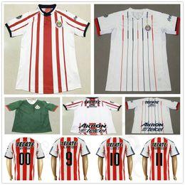 0b5d1f3ed 18 19 Chivas de Guadalajara Soccer Jerseys 9 A.PULIDO 10 LOPEZ 14  A.ZALDIVAR 23 VAZQUEZ CALDERON Custom Home Away Football Shirt