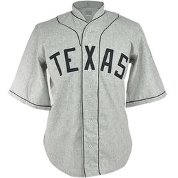 Texas Baseball UK - Texas Black Spiders 1938 Road Jersey Double Stiched Name & Number & Logos Baseball Jersey For Men Women Youth