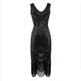 $enCountryForm.capitalKeyWord NZ - 2018 Newest Women's 1920s Vintage Sequin Full Fringed Deco Inspired Flapper Dress Roaring 20s Great Gatsby Dress Vestidos