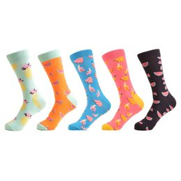 $enCountryForm.capitalKeyWord Australia - Polka Dot 5 Pairs  Lot Women 'S Funny Colorful Combed Cotton Socks Cartoon Food Oil Painting Cute Ankle Socks Novelty Gift
