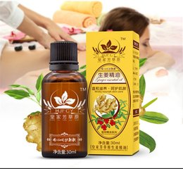 Wholesale Pure Ginger Essential Oils For Aromatherapy Diffusers Pure Essential Oils Organic Body Massage Relax ml Fragrance Oil Skin Care