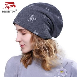 $enCountryForm.capitalKeyWord NZ - DINISITON Bone gorras Casual Beanies Hats Square pattern Spring Women Knitted Cap Cotton velvet Skullies Caps Summer New BL10