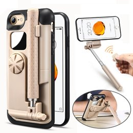 Discount selfie stick case - Lancase Selfie Stick Phone Case For Iphone 7 Case Cover Portable Foldable Stretch Handheld Bluetooth Shutter For Iphone