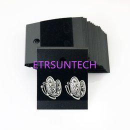 Black jewelry display cards online shopping - 5 cm Plastic Velvet Earring Ear Studs Holder Display Hang Cards Black Jewelry Stores Necessities QW7602