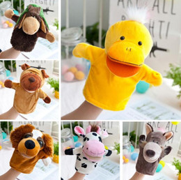 hot puppets NZ - 2018 hot sell New Hand puppets 18 designs forest animal hand puppet 10inch Tiger,Monkey,Lion,Deer Puppets