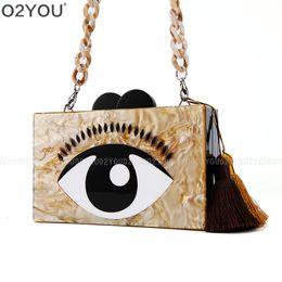 $enCountryForm.capitalKeyWord NZ - Acrylic Box Clutch Bag Luxury Women Bag Patent PVC Handbag Shiny Handbag Women Fashion Chain Crossbody Party Clutch