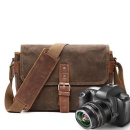 Dslr Cameras Bags Australia - YUPINXUAN Mens Vintage Oil Wax Canvas Leather Shoulder Bags Shockproof DSLR Camera Bag Waterproof Canvas Crossbody Bags Russian