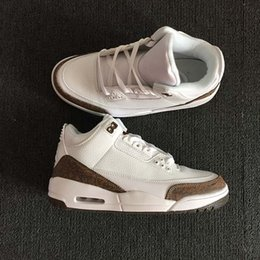 $enCountryForm.capitalKeyWord NZ - 2018 Summer lineup 3 Mocha White Chrome-Dark Mocha men basketball shoes sneakers Cheap versions mens designer shoes 136064-122 with box