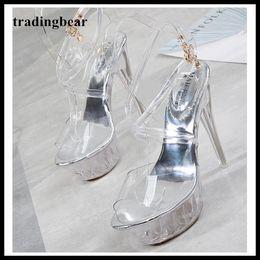 $enCountryForm.capitalKeyWord NZ - big size 35 to 40 41 42 43 silver transparent crystal PVC wedding shoes women designer high heels platform pumps pole dancing shoes