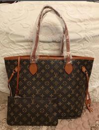 горячая продажа NEVERFULL сумочка + кошелек натуральная кожа торговый пакет сумки мода сцепления CROSSBODY сумка кошелек бесплатная доставка