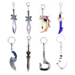 Toy Swords Wholesale NZ - Keychain Pudge Toys Game Weapons Sword Talisman Props Ornaments Car Styling Decor Gift For Player Game Gift
