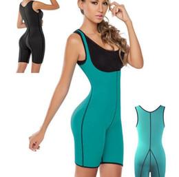 f39cbe21425 Wholesale - 2018 NEW fashion Women Sweat Fitness Shapers Thermal Bodysuit  Full Body Shaper Sauna Slimming Waist Trainer Corsets for women