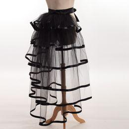 Wholesale 1pc Women Victorian Steampunk Black Bustle Women Tutu Belt Lace Underskirt NEW High Qualitu Fast Shipment