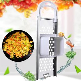 safety gadgets Canada - Stainless Steel Blade Spaetzle Maker Eggs Noodle Dumpling Maker Tool With Safety Hopper Home Kitchen Pasta Cooking Tools Gadgets