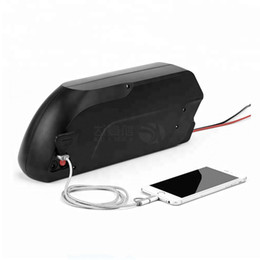 Motor Bicycles Australia - Free Shipping Outdoor rechargeable bicycle battery 48v 13AH lithium Hailong sharks batteries for 750W to 1000W Bafang motor+2A Charger