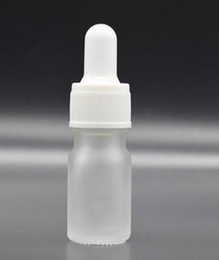 5ml Ejuice Bottles Australia - 5ml frosted clear glass dropper bottle with black white gold silver lid cap matte clear glass bottle for vape ejuice eig essential oil