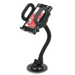 Chinese  Car Windshield 360 Rotating Clip Mount Holder for Mobile Phone iPhone 7 Plus Samsung S9 GPS Suction Cup Bracket Retail Box manufacturers