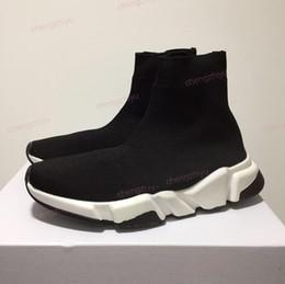 2019 New Paris Speed Trainers Knit Sock Zapato Original de lujo para hombre para mujer Zapatillas de deporte Barato de alta calidad zapatos casuales con caja en venta
