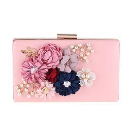 $enCountryForm.capitalKeyWord UK - Rose Dinner Flowers Purse New Women Dress Evening Party Bag Beading Pearl Fabric Craft Bag Porte Monnaie Femme
