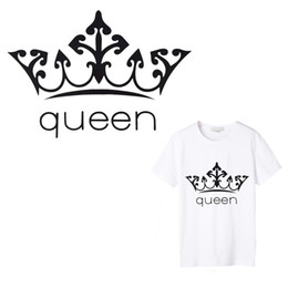 Wholesale iron patches for shirts resale online - 1 Queen Iron on Applique Embroidery Flower Patches for Clothing DIY Vinyl Hot Heat Thermal Transfers for T Shirt Stickers