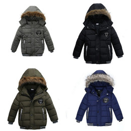 Baby Boys Winter Smile Overcoat Korean Thick Hooded Cotton Padded Kids Fashion Casual Zipper Warm Boy's Clothing Jackets on Sale