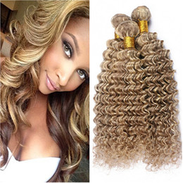 Piano Hair Weave NZ - Piano Mixed Color Malaysian Deep Wave Human Hair Extensions #8 613 Highlight Mixed Piano Color Virgin Human Hair Weave Bundles Double Wefts