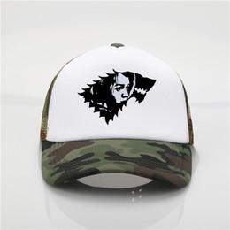 Free Cooling Fan Australia - Latest model Game Of Thrones Fans Baseball caps Arya Stark logo Mesh cap Cool Baseball caps Women Men hip hop Hat