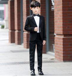 $enCountryForm.capitalKeyWord NZ - Autumn New Design Black Court Boy's Suits 5 Pieces Dress Suits 80% Polyseter Material 1 Set Per Opp Bag Cost-Effective Price