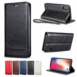 Iphone Case Double Card NZ - For Samsung S9 Note 9 S8 S7 S6 Litchi Leather Wallet Phone Case Double-Sided tTPU Cover For iPhone X XS MAX 7 8
