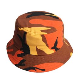 Chinese  Adult Cotton Flat Hats Men Women Chapeau Fashion Camouflage Bucket Hat Fisherman Caps Outdoor Sun Protective Beach Hats manufacturers