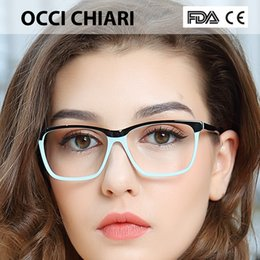 16a56366c66 big eyeglasses frames for women 2019 - OCCI CHIARI Fashion Big rim  Eyeglasses 54cm For Women