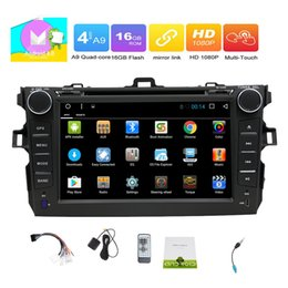 Hd Inch Phone Canada - HD 7''multi-touchscreen Car dvd Radio Stereo Quad-core Android 6.0 System GPS Navigation Bluetooth FM AM RDS USB SD Wifi Phone Link Headunit