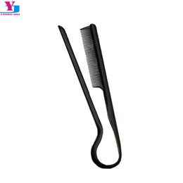 China brush New V Shape Hair Brush Fast Hair Straightener Black Extension Slim Line Comb Salon Tool Styling Beard Combs Peigne Tarak cheap new hair style male suppliers