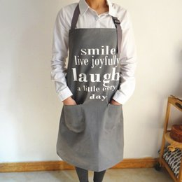work uniforms wholesale UK - Adult print Bib Apron with Pocket Chef Waiter Kitchen Cook New Tool chef uniform chef clothing cooks kitchen work apron