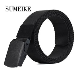 Green Plastic Army Men Canada - Automatic Buckle Nylon Army Tactical Mens Military Waist Canvas Belts Cummerbunds High Quality Strap 120Cm Factory Wholesale 3 Pcs Or More