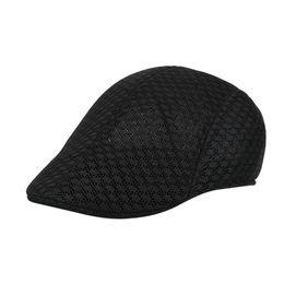 Summer Men Women Casual Beret Hat Ivy Flat Cap Cabbie Newsboy Style Gatsby Hat  Adjustable Breathable Boina Mesh Caps 2018 efcd4c954ee5
