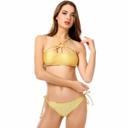 85804e8ef9328 Cross border designed for 2018 new European and American bikini gold sexy  fashion swimsuit manufacturers