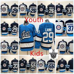 Youth Winnipeg Jets Blake Wheeler Jersey Kid 55 Mark Scheifele 33 Dustin  Byfuglien 29 Patrik Laine 37 Connor Hellebuyck Winnipeg Jets Jersey e823d9f17