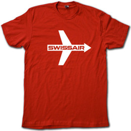 $enCountryForm.capitalKeyWord UK - SWISSAIR Vintage Feeling Airline T-Shirt • Retro Super-Soft Airplane Graphic TeeFunny free shipping Unisex Casual tshirt gift