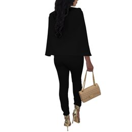 7b8b7cf7c5b6 NEW Plus Size Jumpsuits And Rompers For Women 2017 Fashion Design Casual  Sexy Jumpsuit Full Cloak Sleeve Long Jumpsuit V-Neck