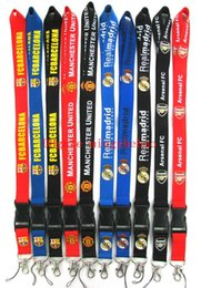 $enCountryForm.capitalKeyWord Australia - Hot 50 PCS Mix Loose Football Teams Cell Phone Sport Cloth Lanyard Key Chain Necklace String Neck Strap Work ID card lanyard