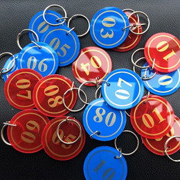 $enCountryForm.capitalKeyWord Canada - Acrylic Numbered Tags 1-200 With Key Ring Plastic Discs Serial Numbers Label Locker Luggage Checkroom ID Digit Cards ZA6226