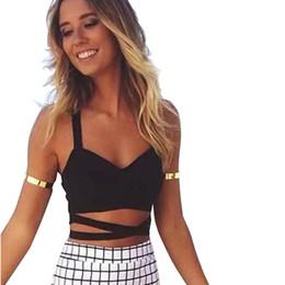 V cut bra online shopping - Hot Sexy Tanks Tops Women Summer V Neck Cut Out Bra Top Crop Bustier Corset Tops Tank Top For Women Black