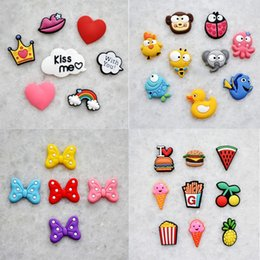 Shipping Ice Packs NZ - Free Shipping 1000pcs pack Novelty Bowknot Food Shoes Decoration Fir For Garden Shoes Ice Cream Shoes Buckle Kids Gifts Girls