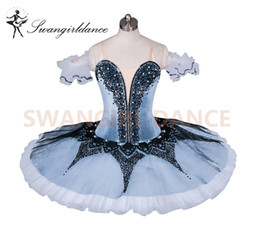 ballet stage costumes NZ - Adult Professional Ballet Tutu Grey White Queen Classical Ballet Stage Costume Nutcracker Performance Gray Platter TutuBT9032