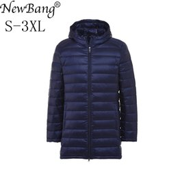 blue parka man NZ - NewBang Long White Down Coat Male Feather Parka Man Ultra Light Down Jacket Men Lightweight Outdoors Winter Jacket