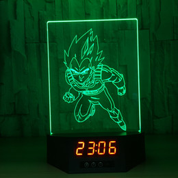 2018 christmas lights box battery 3d illusion running goku clock lamp night light rgb lights usb