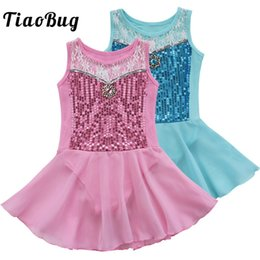 $enCountryForm.capitalKeyWord NZ - TiaoBug Children Floral Sequins Cute Girl Princess Ballet Tutu Dress Kids Ballerina Dance Skirt Leotard Dress Gymnastics Leotard