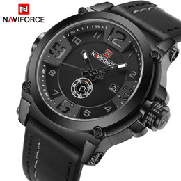 $enCountryForm.capitalKeyWord UK - Top Luxury Men Sports Military Quartz Watch 30M Waterproof Man Analog Date Clock Leather Strap Wristwatch Relogio Masculino Wholesale