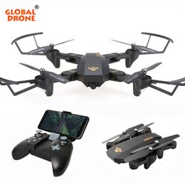 Drone Toys Cameras Australia - GLOBAL DRONE VISUO XS809HW Foldable Selfie Dron with HD FPV Camera Wifi Phone Control Pocket Mini Remote Control Toy RC Drone